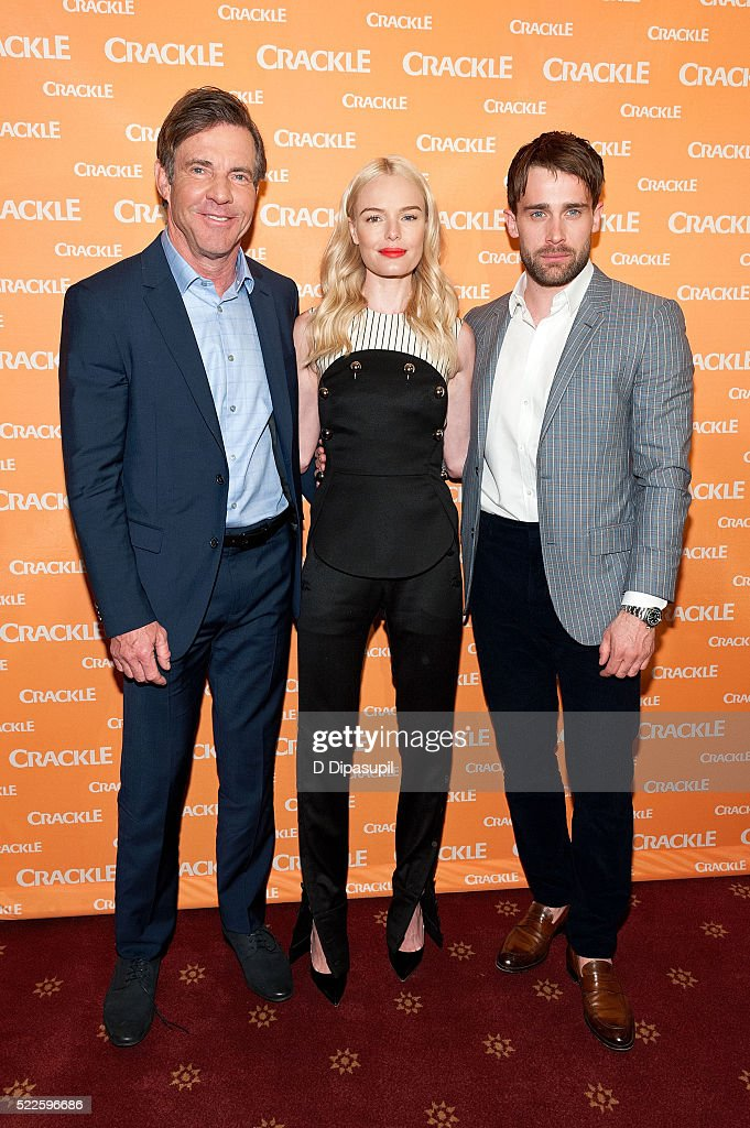 Dennis Quaid Kate Bosworth and Christian Cooke attend Crackle's 2016 Upfront Presentation at New York City Center on April 20 2016 in New York City