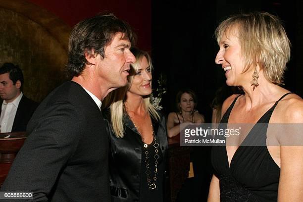 Dennis Quaid Kimberly Quaid and Klara Glowczewska attend Conde Nast Traveler Hot List Party at Buddha Bar on April 18 2006 in New York City