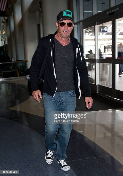 Dennis Quaid seen at LAX airport on February 15 2014 in Los Angeles California