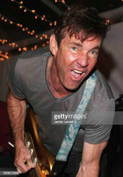 Dennis Quaid The Sharks 14th Annual Children Uniting Nations Viewing Dinner and After Party on February 24 2013 in Beverly Hills California