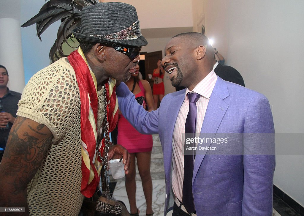<a gi-track='captionPersonalityLinkClicked' href=/galleries/search?phrase=Dennis+Rodman&family=editorial&specificpeople=202643 ng-click='$event.stopPropagation()'>Dennis Rodman</a> and DJ Irie attend Irie Weekend Carnivale Kick-Off Event on June 28, 2012 in Miami Beach, Florida.