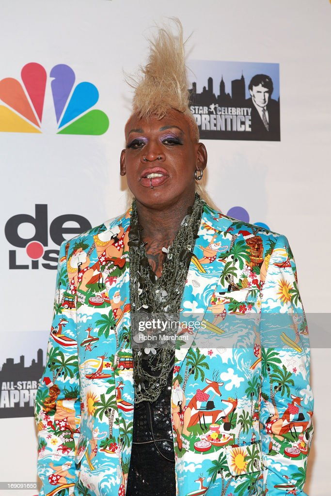 <a gi-track='captionPersonalityLinkClicked' href=/galleries/search?phrase=Dennis+Rodman&family=editorial&specificpeople=202643 ng-click='$event.stopPropagation()'>Dennis Rodman</a> attends 'All Star Celebrity Apprentice' Finale at Cipriani 42nd Street on May 19, 2013 in New York City.