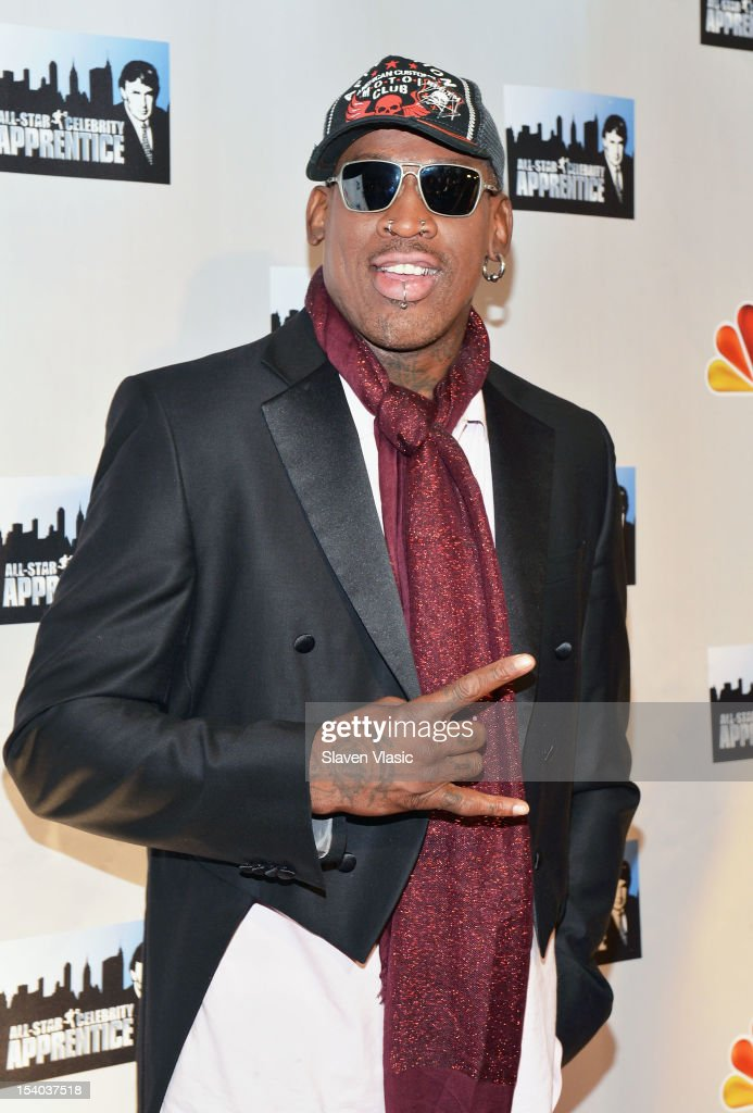 Dennis Rodman attends the 'Celebrity Apprentice All Stars' Season 13 Press Conference at Jack Studios on October 12, 2012 in New York City.