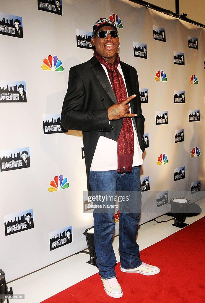 Dennis Rodman attends the 'Celebrity Apprentice All Stars' Season 13 Press Conference at Jack Studios on October 12, 2012 in New York City.