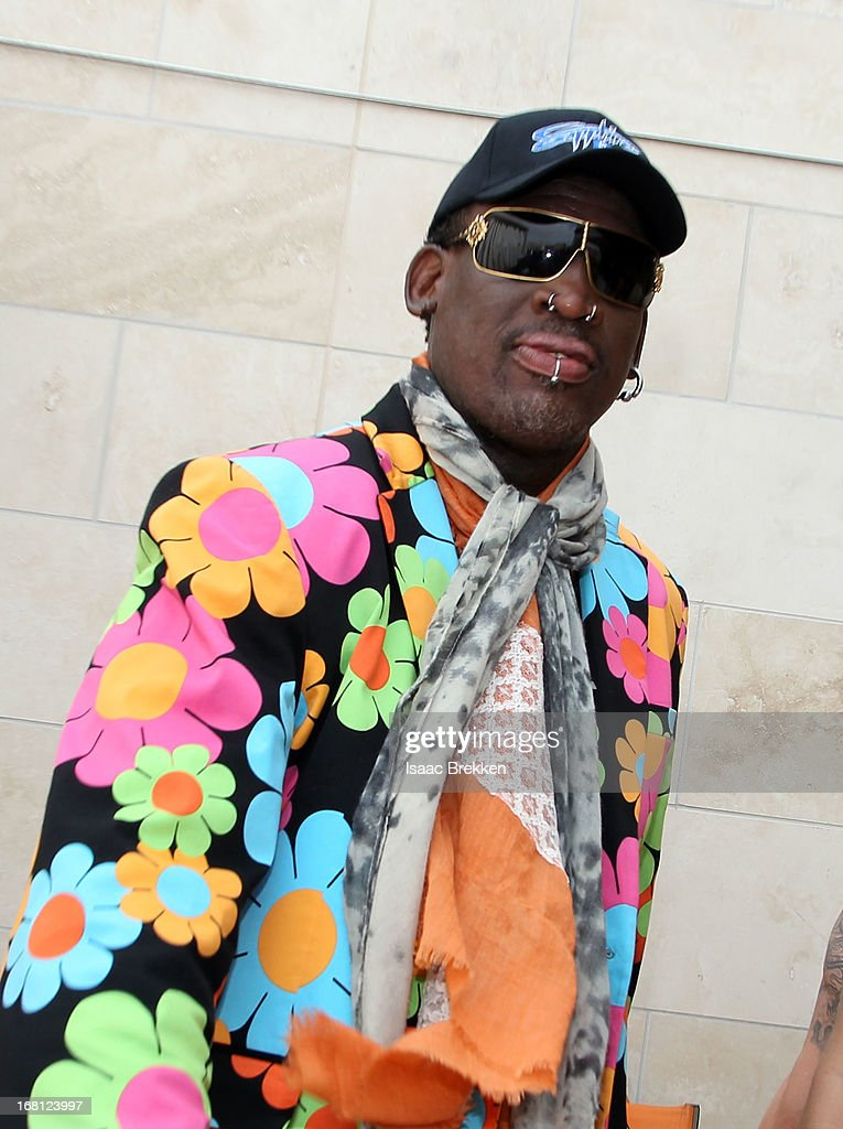 Dennis Rodman attends the grand opening of the Sapphire Pool & Day Club on May 5, 2013 in Las Vegas, Nevada.