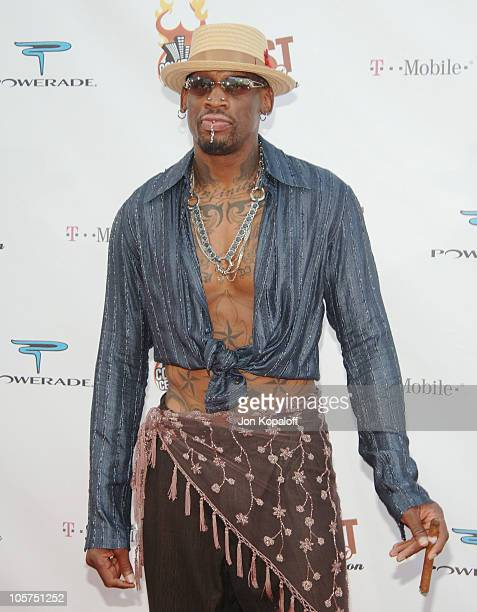 Dennis Rodman during Comedy Central Roast of Pamela Anderson Arrivals at Sony Studios / Stage 15 in Culver City California United States