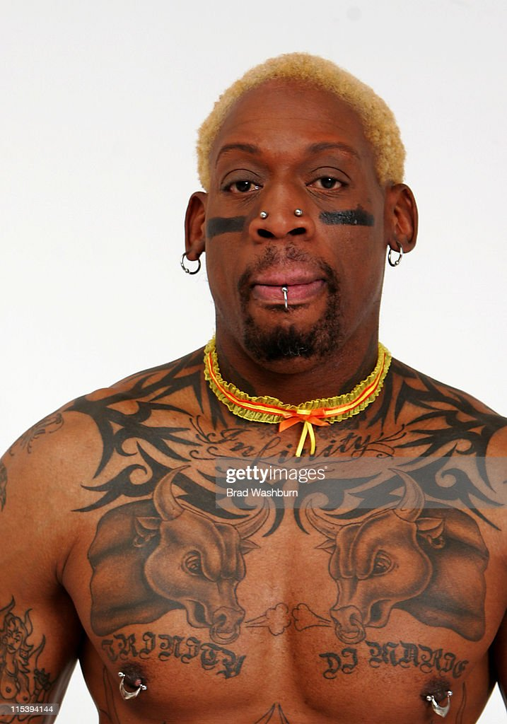 Dennis Rodman during Lingerie Bowl 2006 Photoshoot with Dennis Rodman and Jose Canseco at Lingerie Bowl 2006 Photoshoot in Long Beach, California, United States.