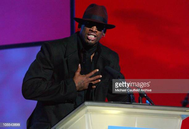 Dennis Rodman during PETA's 25th Anniversary Gala and Humanitarian Awards Show Show and Backstage at Paramount Studios in Los Angeles California...