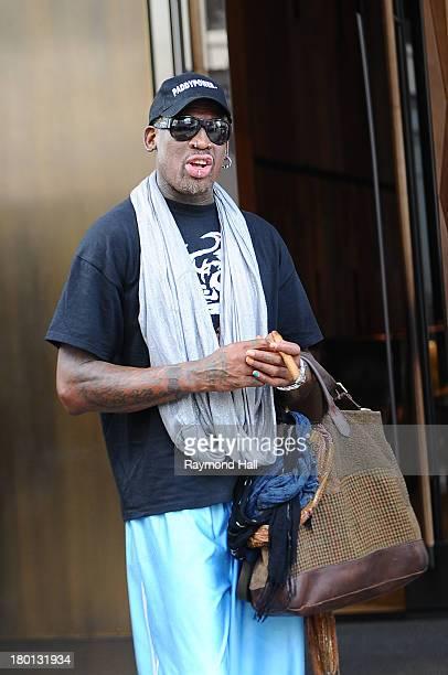 Dennis Rodman is seen in Soho on September 9 2013 in New York City