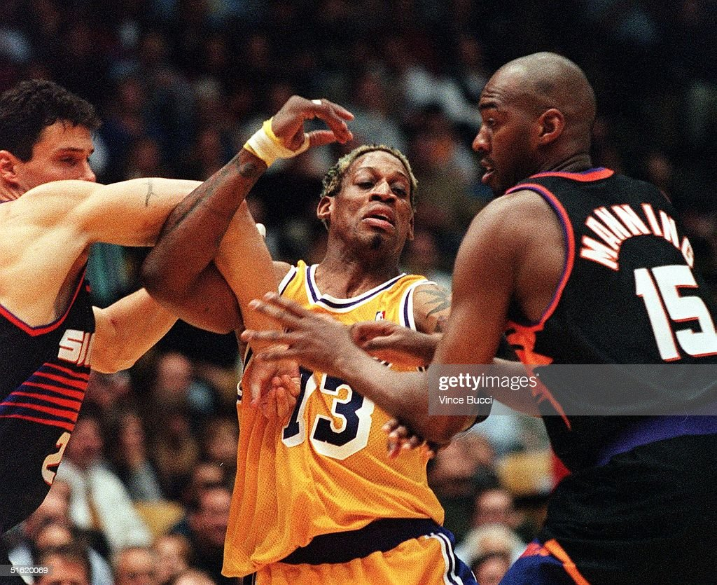 Dennis Rodman of the Los Angeles Lakers C s t