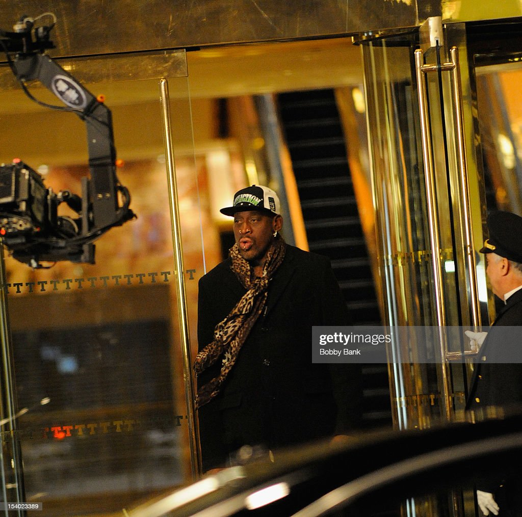 Dennis Rodman seen on location for 'The Celebrity Apprentice All-Star' on October 11, 2012 in New York City.