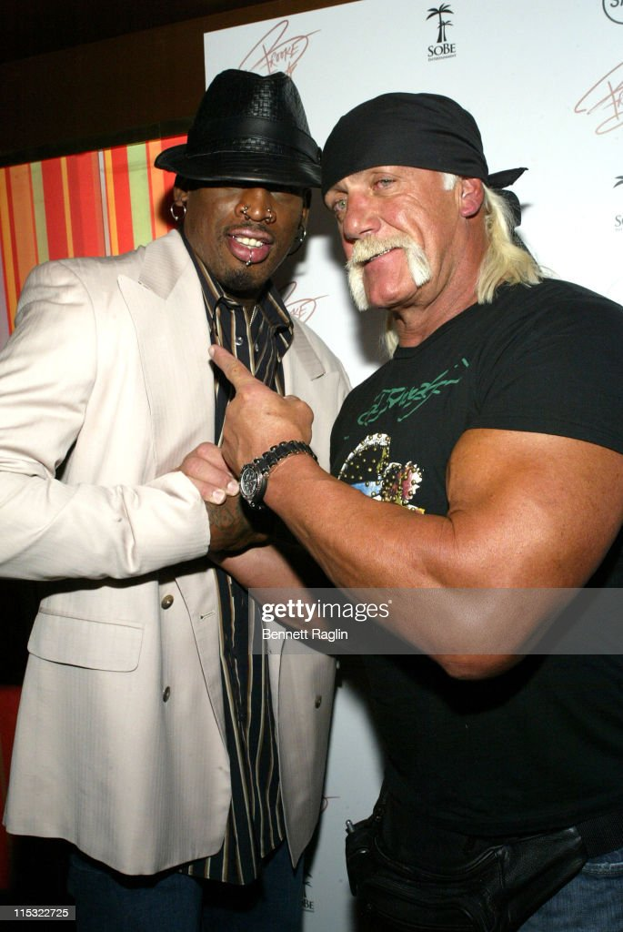 Dennis Rodmanand Hulk Hogan during Brooke Hogan Album Release Party at Marquee in New York City New York United States