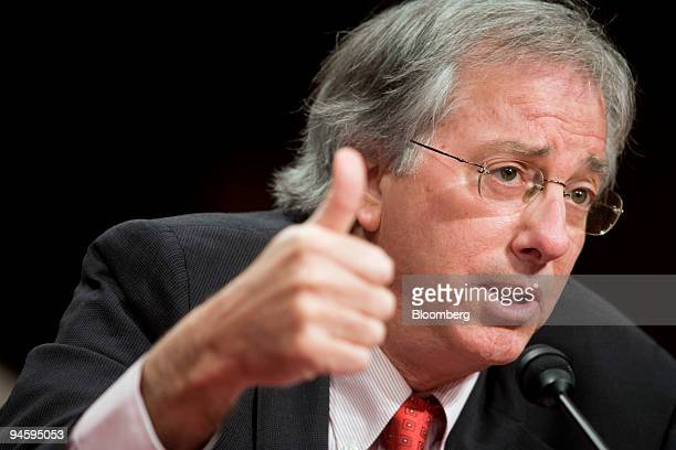 Dennis Ross a counselor at the Washington Institute for Near East Policy and special Middle East envoy under President Bill Clinton testifies at a...