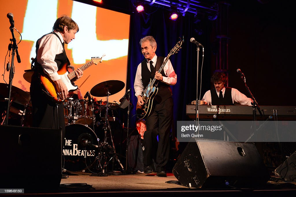 Dennis Scott, Bryan Cumming, and Nathan Burbanic of the Wannabeatles performs in honor of Betty White's 91st Birthday at 3rd & Lindsley on January 17, 2013 in Nashville, Tennessee.