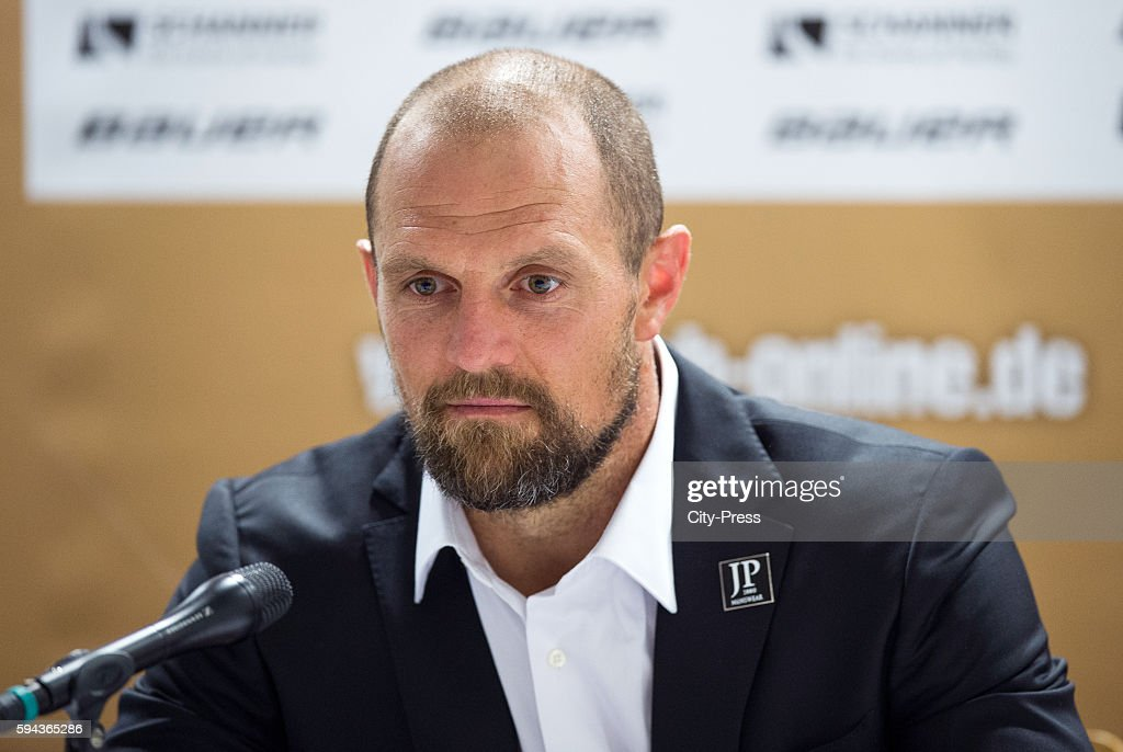 Dennis Seidenberg of Team Germany during a DEB press conference on August 23 2016 in Mannheim Germany