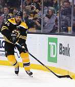 Dennis Seidenberg of the Boston Bruins skates against the Washington Capitals during the second period at TD Garden on January 5 2016 in Boston...