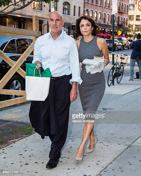 Dennis Shields and Bethenny Frankel are seen leaving SoHo House on June 14 2016 in New York New York