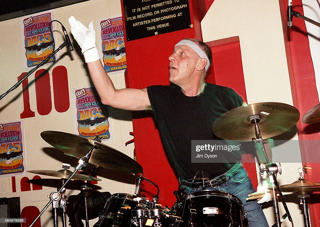 Dennis Thompson of the MC5 performs live on stage during the reunion show 'Sonic Revolution: A Celebration Of The MC5' at the 100 Club on March 13, 2003 in London, United Kingdom.