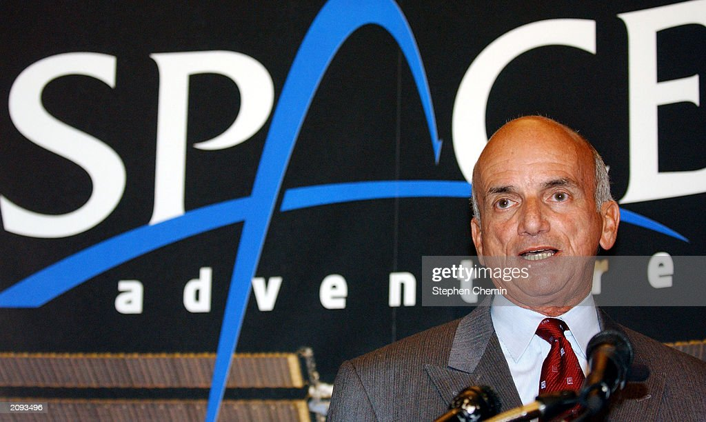 Dennis Tito, the worlds first space tourist in 2001, speaks about his experiences as a space traveller at a press conference June 18, 2003 in New York City. Space Adventures Ltd., the company which brokered Tito's space flight, announced plans to launch the world's first privately funded mission to the International Space Station (ISS). At a cost of roughly $20 million per person, Space Adventures has partnered with the Russian Aviation and Space Agency to fly two citizens to the ISS aboard the new Soyuz spacecraft.