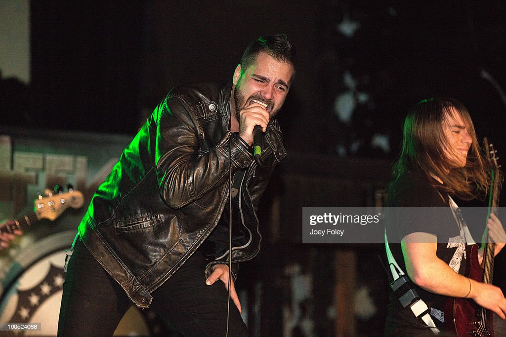 Dennis Tvrdik and Brett Wondrak of Affiance performs at The Emerson Theater on February 1, 2013 in Indianapolis, Indiana.