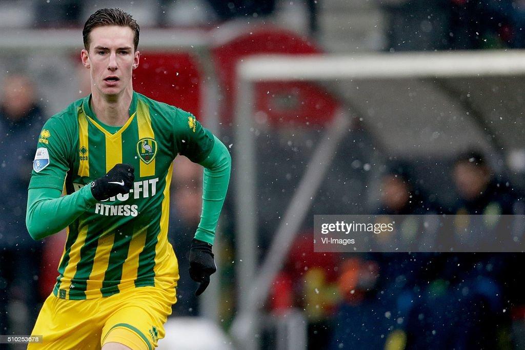 Dennis van der Heijden of ADO Den Haag during the Dutch Eredivisie match between Excelsior Rotterdam and ADO Den Haag at Woudenstein stadium on February 14, 2016 in Rotterdam, The Netherlands
