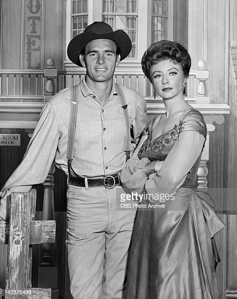 Dennis Weaver as Chester Goode Amanda Blake as Kitty Russell in GUNSMOKE Image dated May 27 1960