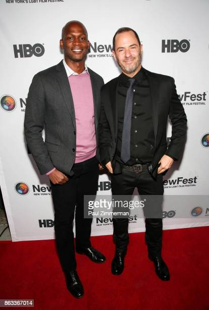 Dennis Williamd and Robert Kushner attend NewFest 2017 Opening Night 'Susanne Bartsch On Top' at SVA Theater on October 19 2017 in New York City