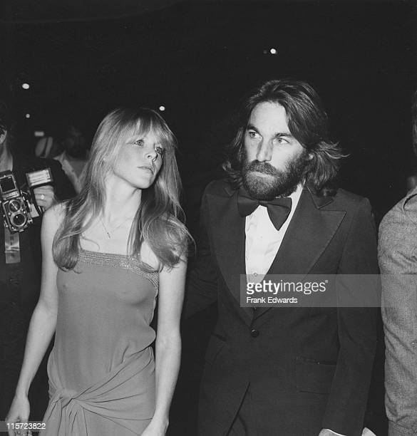 Dennis Wilson drummer with 'The Beach Boys' with his wife US actress Karen Lamm attending the 19th annual Grammy Award held at the Hollywood...