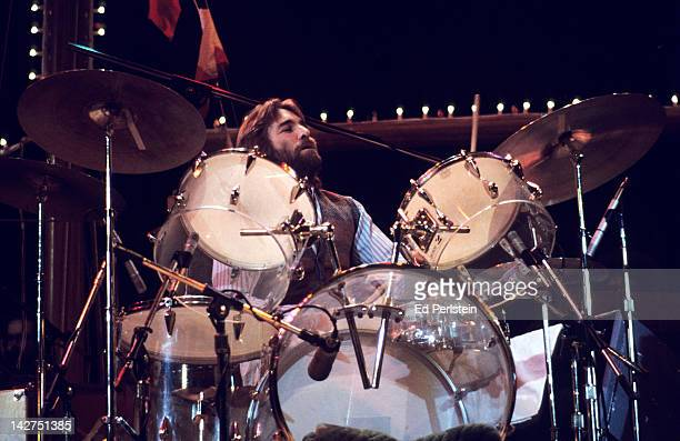 Dennis Wilson performs with The Beach Boys at the Oakland Coliseum Arena on December 15 1976 in Oakland California