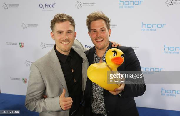 Dennis Wolter and Benni Wolter of World Wide Wohnzimmer attends the Webvideopreis Deutschland 2017 at ISS Dome on June 1 2017 in Duesseldorf Germany