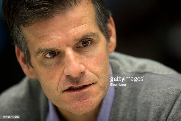 Dennis Woodside chief operating officer of Dropbox Inc speaks during an interview in New York US on Friday Jan 23 2015 Dropbox Inc a cloudbased...