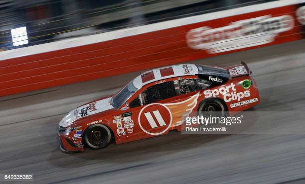 Denny Hamlin drives the Sport Clips Toyota during the Monster Energy NASCAR Cup Series Bojangles' Southern 500 at Darlington Raceway on September 3...