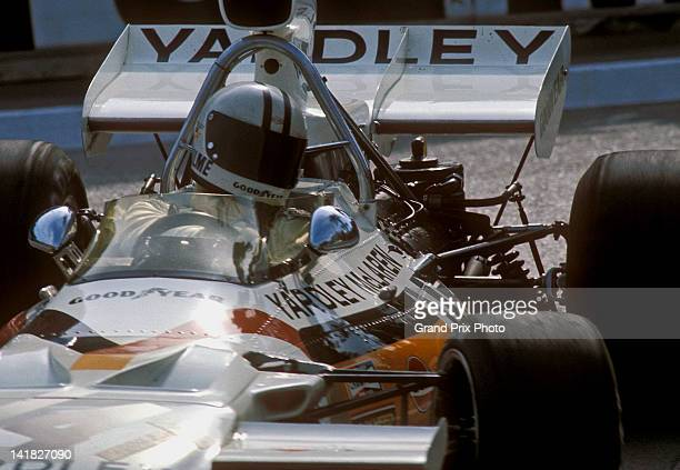 Denny Hulme of New Zealand drives the Yardley Team McLaren McLaren M19C Ford Cosworth V8 during the Monaco Grand Prix on 14th May 1972 on the streets...
