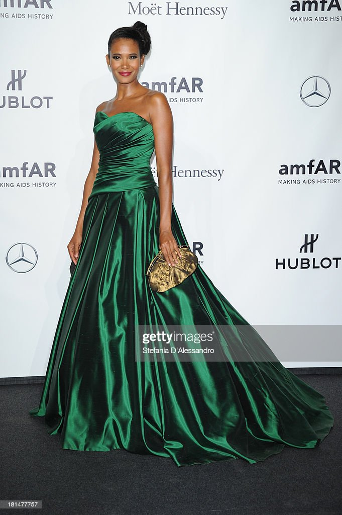 Denny Mendez attends the amfAR Milano 2013 Gala as part of Milan Fashion Week Womenswear Spring/Summer 2014 at La Permanente on September 21, 2013 in Milan, Italy.