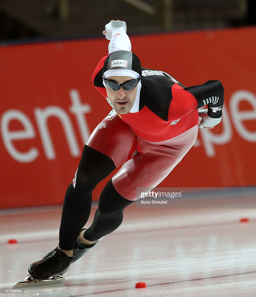 <a gi-track='captionPersonalityLinkClicked' href=/galleries/search?phrase=Denny+Morrison&family=editorial&specificpeople=726041 ng-click='$event.stopPropagation()'>Denny Morrison</a> of Canada competes in the men's 1000 m Division A race during the Essent ISU World Cup Speed Skating on November 21, 2010 in Berlin, Germany.