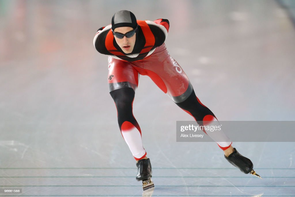 <a gi-track='captionPersonalityLinkClicked' href=/galleries/search?phrase=Denny+Morrison&family=editorial&specificpeople=726041 ng-click='$event.stopPropagation()'>Denny Morrison</a> of Canada competes in the men's speed skating 5000 m on day 2 of the Vancouver 2010 Winter Olympics at Richmond Olympic Oval on February 13, 2010 in Vancouver, Canada.