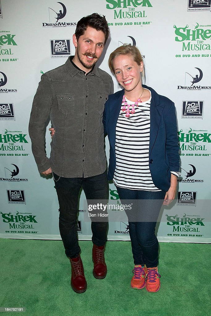 Denny Paschall and Haven Burton attends the release party for 'Shrek: The Musical' Blue-Ray and DVD on October 15, 2013 in New York, United States.