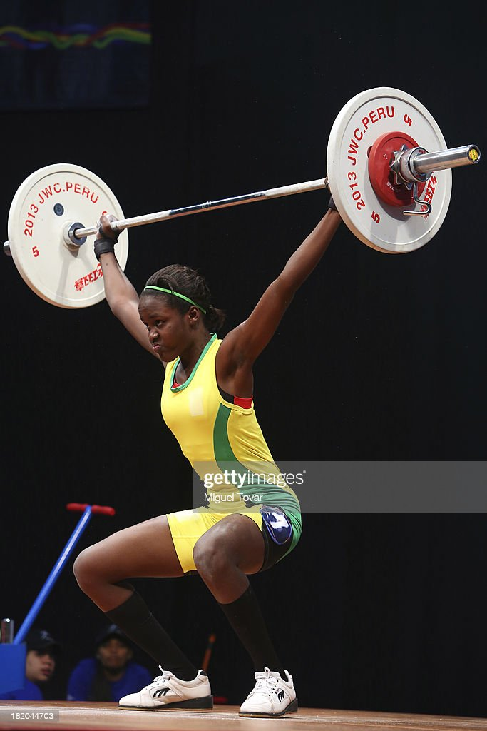 Denoila Bristol of Guyana competes in women's 48 kg as part of the I ODESUR South American Youth Games at Coliseo Miguel Grau on September 27, 2013 in Lima, Peru.