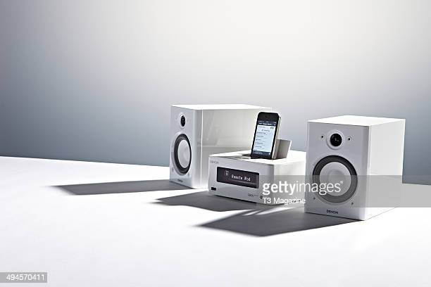 A Denon CEOL Piccolo Network Music System photographed on a white background taken on September 9 2013