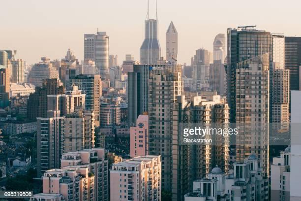 dense city buildings in Shanghai