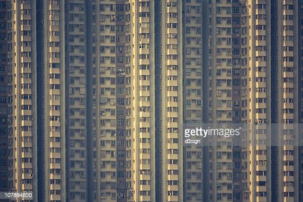 Concrete Building With Windows : Hong kong abstract stock photos and pictures getty images