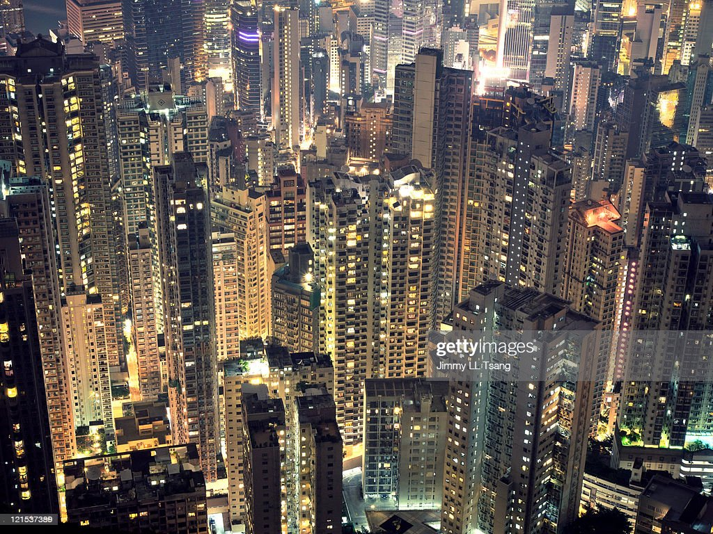Density population of Hong Kong : Stock Photo