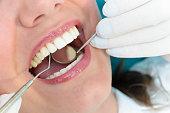 Young woman at dental consultation