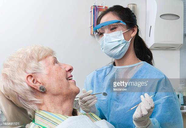 Dentist Appointment - Hygienist and Senior Patient