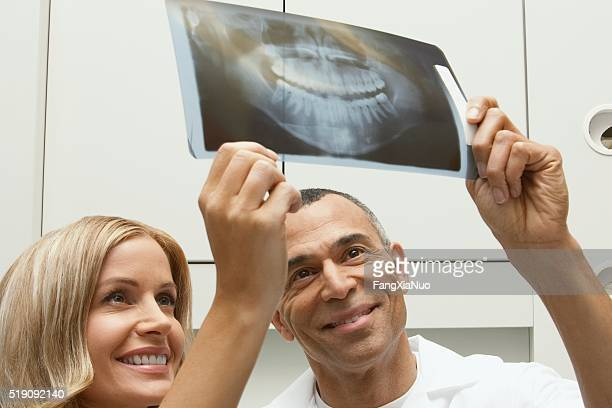 Dentists with x-rays