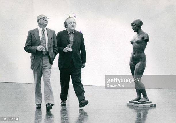 Denver Art Museum Toured By Visiting Museum Directors Art gallery directors Joseph Dodge left and Russell Hicken both of Jacksonville Fla stroll past...