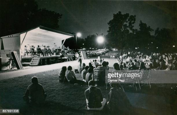 Denver Band Concert Staged Under The Stars he Denver Municipal Band was present with its portable stage Thursday night in Washington Park The band in...