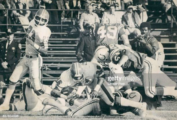 Denver Broncos Broncos were anything but awesome in beating Baltimore Colts 176 but Got plays like this 60yard punt return by Billy Thompson and...