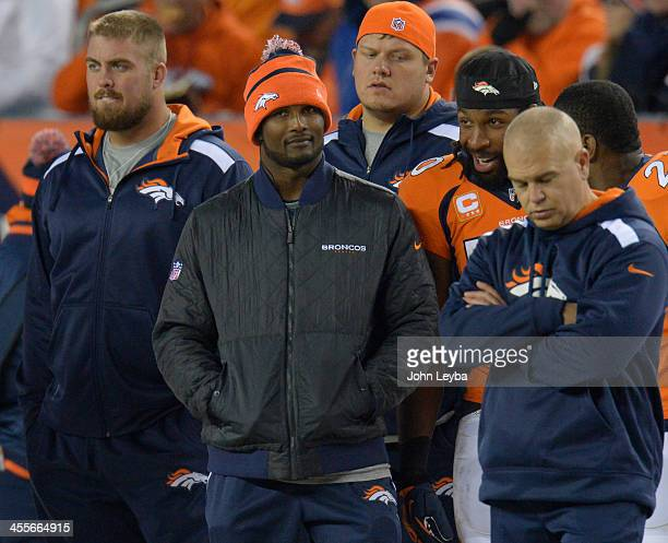 Denver Broncos cornerback Champ Bailey on the sidelines during the game The Denver Broncos vs the San Diego Chargers at Sports Authority Field at...