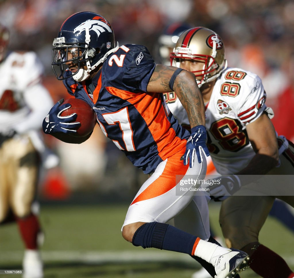 Denver Broncos Cornerback Darrent Williams #27 In Action